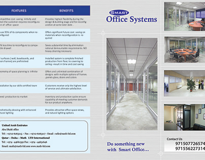 Two-fold brochure design for Smart Office Systems