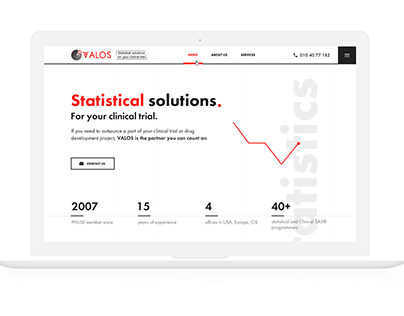 Дизайн сайта на Тильде Statistical solutions