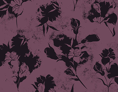 Textile design with flowers.
