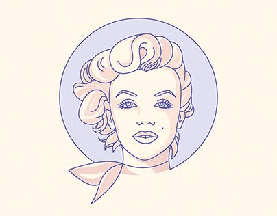 ICONIC Hollywood Movie Stars - Portrait Illustrations