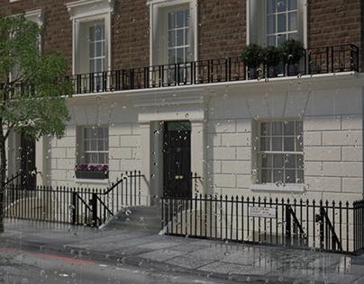 A London raining day