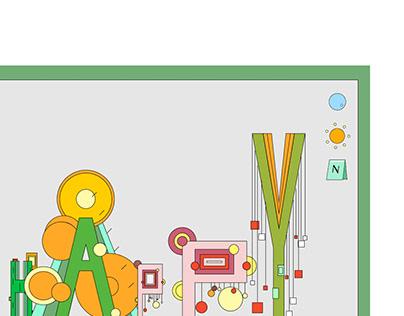 Typographic Game - Type Garden
