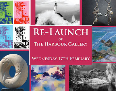 Harbour Gallery graphics for exhibition/events