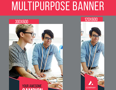 Multipurpose web banner design