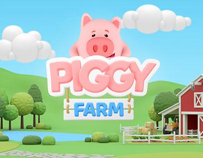Piggy Farm Game - 3D Design & Props