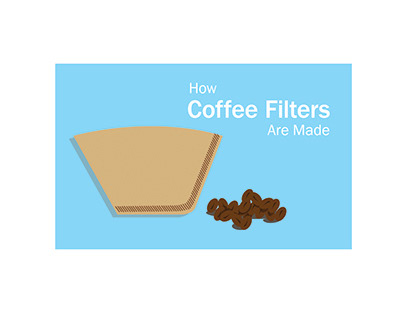 How Coffee Filters Are Made Accordion Book