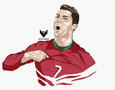 Cristiano Ronaldo portrait illustrator