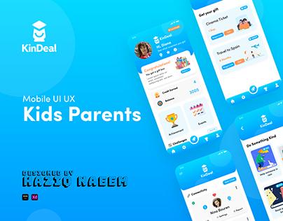 Kids Parents App UI UX