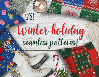 Winter holiday patterns. Christmas mood.