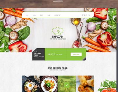 Free Interactive Restaurant PSD Template