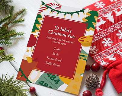 Christmas Fair - Illustrated Poster