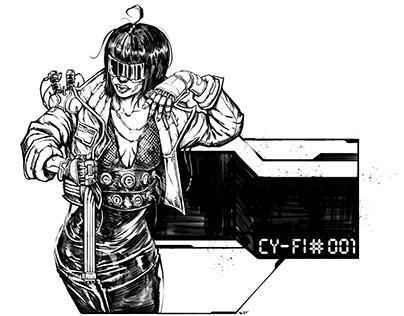 Cy-Fi #001 Lineart