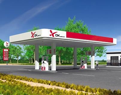 DK Petrol. Petrol station branding
