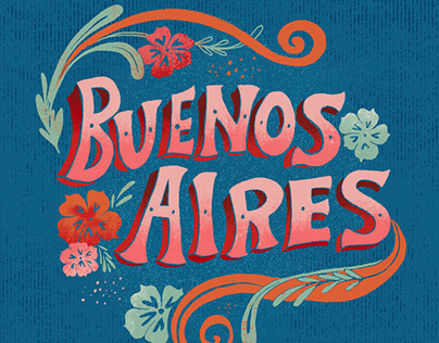 Buenos Aires Food Map and Hand Lettering