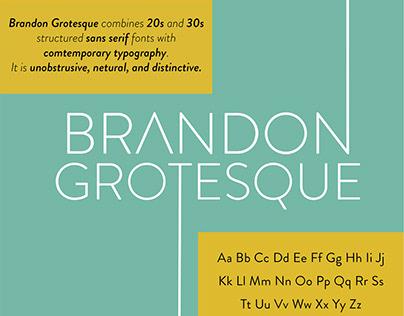 Brandon Grotesque Type Specimen Sheet