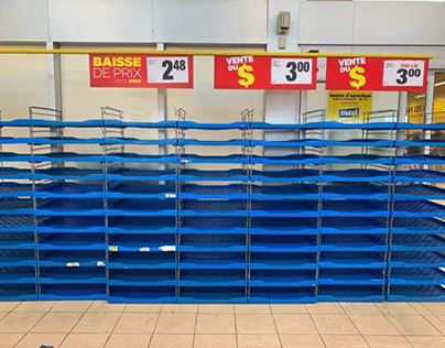 Coronavirus Montreal Shops Empty Shelves | Neil Haboush