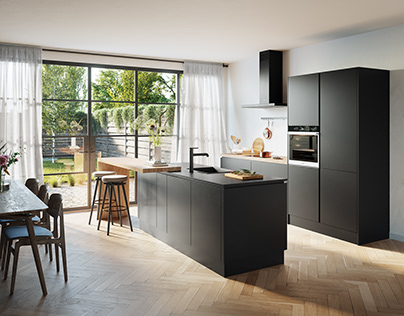 CGI Kitchen Black