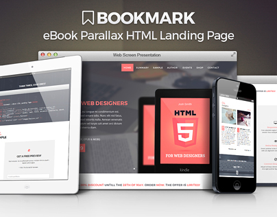 Bookmark - Parallax eBook Landing Page