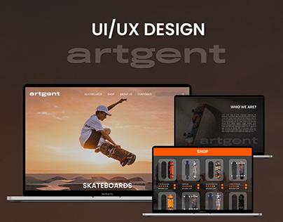 Artgent ui/ux design