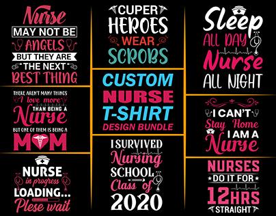 Custom Nurse T-shirt Design Bundle