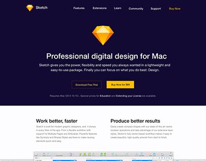 Sketch App Website Redesign with Adobe XD