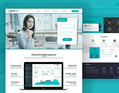 NEXCLIC Online Advertising Network Web Design Project