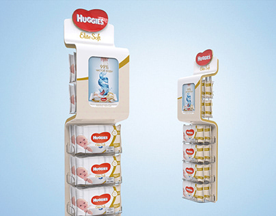 Huggies hanging display for Kimberly Clark.