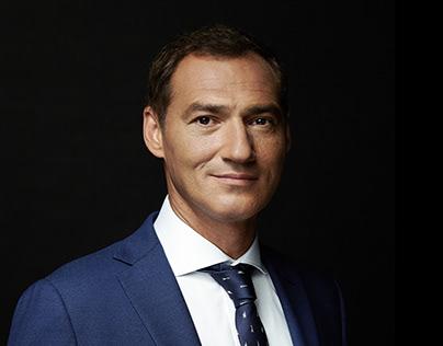 Portrait of TV presenter Roman Babayan