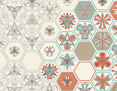 Alstromeria. Tile. Illustrations for surface design.