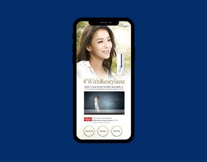 Restylane korea digital campaign