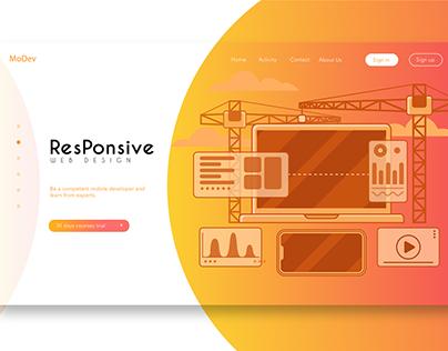 Website banner templates vector web portfolio Designs