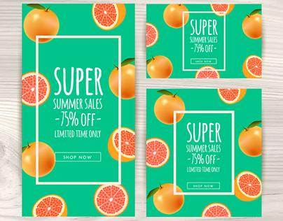 Summer Sale Banners Design - Vector Free for Freepik