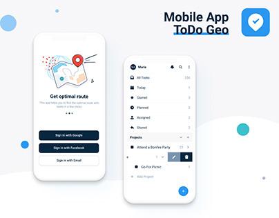 ToDo Geo - Task Manager App