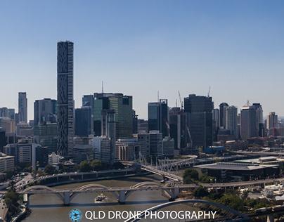 Brisbane CBD and riverside