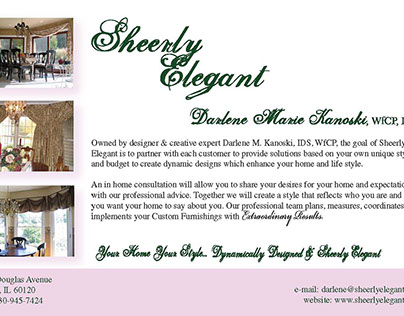 Half-page Ad for Interior Designer