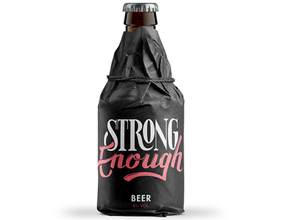 Strong Enough Handlettering