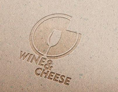 "Logo Fictício Marca""Wine & Cheese"" Projeto UMC"