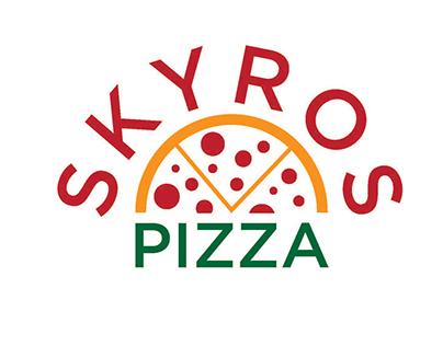 Skyros Pizza - Logo & Menu Design
