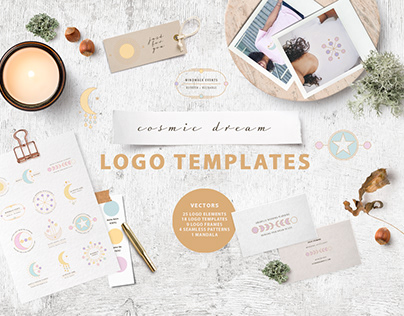 Cosmic Dream Logo Template & Creator Kit
