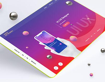 uiux design adobe xd template