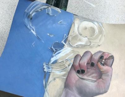glass crushing hand 2018-2019