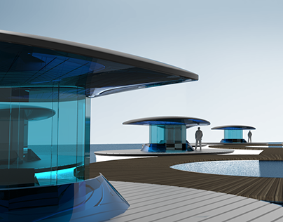 Conceptual living space on the water project