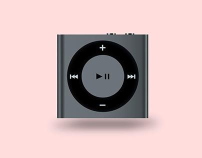 Realistic iPod illustration