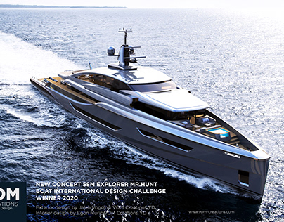 Meet Mr. Hunt, the Sleek 190-Foot Superyacht Concept