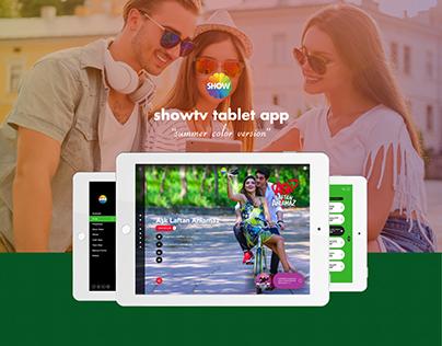 Show tv Tablet Design