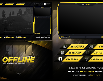 FREE TWITCH OVERLAY TEMPLATE 2018 #3