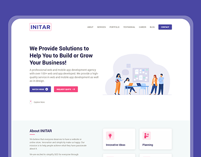 INITAR - IT Firm - Homepage Design