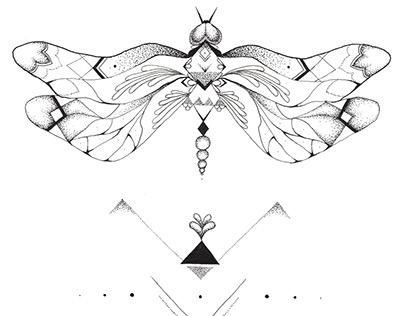 Butterfly drawing // Pattern