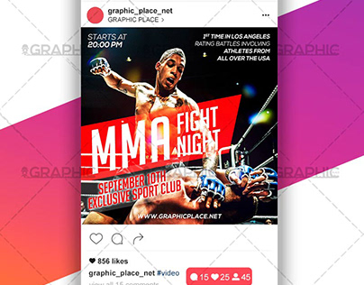 MMA Fight – Animated Flyer PSD Template