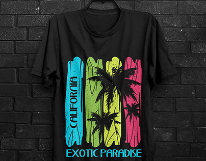 California Exotic Paradise T shirt design